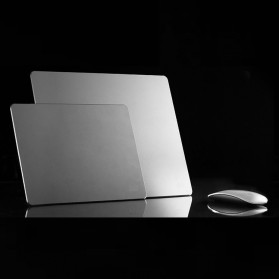 Metal Mouse Pad Rubber Feet (240 x 180 x 3mm) - 151210 - Silver - 3