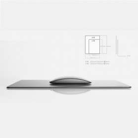 Metal Mouse Pad Rubber Feet (240 x 180 x 3mm) - 151210 - Silver - 6
