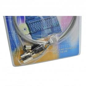 F & K Kunci Pengaman Laptop Key Security Lock - Silver - 2