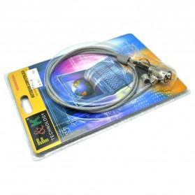 F & K Kunci Pengaman Laptop Key Security Lock - Silver - 3