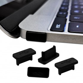 Dust Plug USB Type C 5 PCS - BU10 - Black - 2
