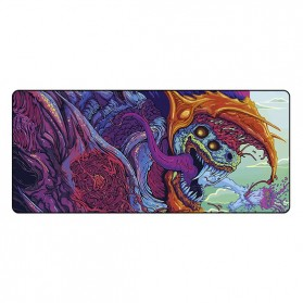 Gaming Mouse Pad XL Desk Mat 300 x 800 mm - Model 1 - Black