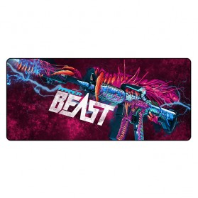 Gaming Mouse Pad XL Desk Mat 300 x 800 mm - Model 3 - Black