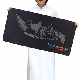 Gaming Mouse Pad Desk Mat Logo Jakartanotebook 500 x 800 mm - Black - 3