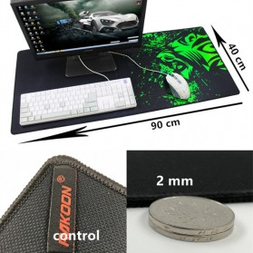 Rakoon Gaming Mouse Pad Desk Mat Control Surface 40 x 90 cm - LS - Black