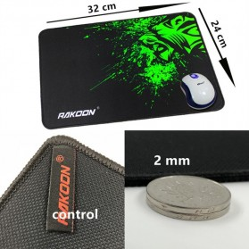 Rakoon Gaming Mouse Pad Desk Mat Control Surface 24 x 32 cm - LS - Black