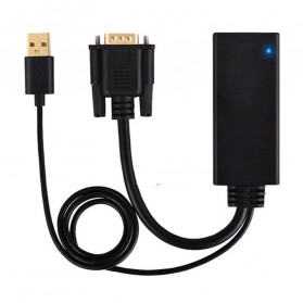 TXR Kabel Adapter VGA to HDMI with USB Power - AY55 - Black - 4