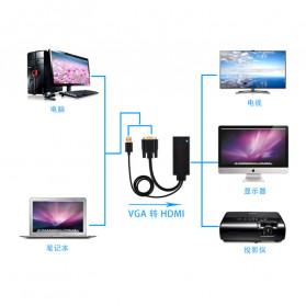 TXR Kabel Adapter VGA to HDMI with USB Power - AY55 - Black - 6
