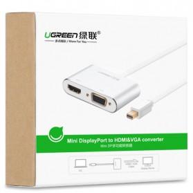 Ugreen Adapter Mini Display Port to HDMI VGA Aluminium - MD115/20422 - Black - 5
