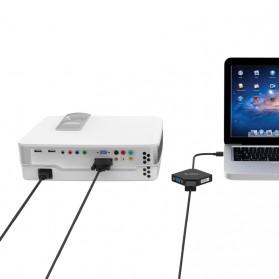 Orico 3 in 1 Mini Display Port to HDMI VGA DVI Adapter - DMP-HDV3 - Black - 2