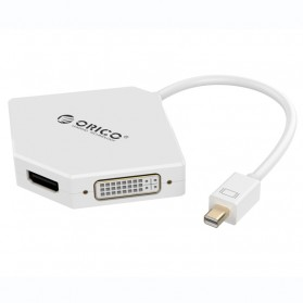 Orico 3 in 1 Mini Display Port to HDMI VGA DVI Adapter - DMP-HDV3 - White