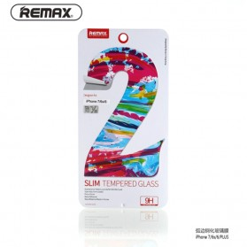REMAX Slim Tempered Glass 9H Curved Edge 0.2mm 2PCS for iPhone 7 Plus