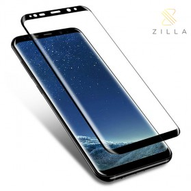 Zilla 3D Full Cover Tempered Glass Curved Edge 9H 0.26mm for Samsung Galaxy S9 Plus - Black - 1