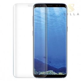 Zilla 3D Tempered Glass Curved Edge 9H Small Hole for Samsung Galaxy S9 - Transparent