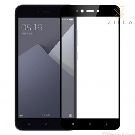 Zilla 3D Tempered Glass Curved Edge 9H 0.26mm for Xiaomi Redmi Note 5A 16GB - Black - 1