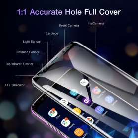 Zilla 3D Full Cover Tempered Glass Curved Edge 9H for Samsung Galaxy S9 - Black - 4