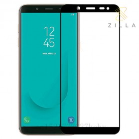 Laptop / Notebook - Zilla 3D Tempered Glass Curved Edge 9H 0.26mm for Samsung Galaxy J6 2018 - Black