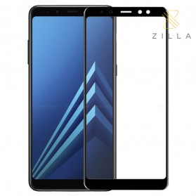 Zilla 3D Tempered Glass Curved Edge 9H 0.26mm for Samsung Galaxy A6 Plus 2018 - Black - 1
