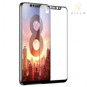 Zilla All Glue Fit 3D Tempered Glass Curved Edge 9H 0.26mm for Xiaomi Mi8 - Black - 1