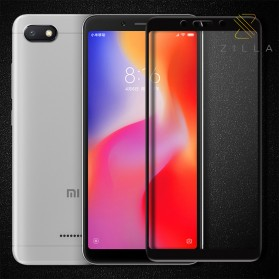 Zilla All Glue Fit 3D Tempered Glass Curved Edge 9H 0.26mm for Xiaomi Redmi6 - Black - 1