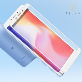 Zilla All Glue Fit 3D Tempered Glass Curved Edge 9H 0.26mm for Xiaomi Redmi6 - White
