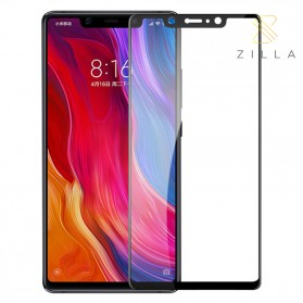 Zilla All Glue Fit 3D Tempered Glass Curved Edge 9H 0.26mm for Xiaomi Mi8 SE - Black