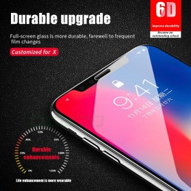 Zilla 6D Tempered Glass Curved Edge 9H 0.26mm for iPhone XS - Black - 2