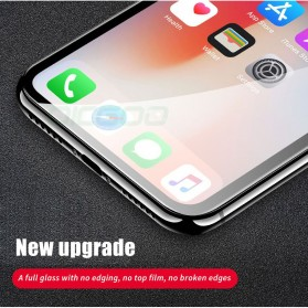 Zilla 6D Tempered Glass Curved Edge 9H 0.26mm for iPhone XS - Black - 7