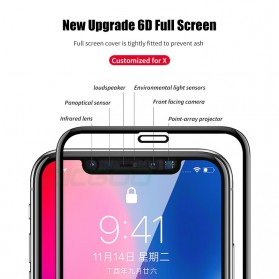 Zilla 6D Tempered Glass Curved Edge 9H 0.26mm for iPhone XS Max - Black - 4
