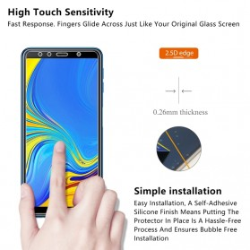 Zilla 2.5D Tempered Glass Curved Edge 9H 0.26mm for Samsung Galaxy A7 2018 - 4