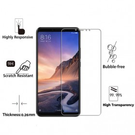 Zilla 2.5D Tempered Glass Curved Edge 9H 0.26mm for Xiaomi Mi Max 3 Pro - 3