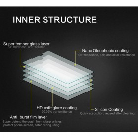 Zilla Nano Slim Tempered Glass Curved Edge 9H Fingerprint Hole for Samsung Galaxy S10 Plus - Black - 3