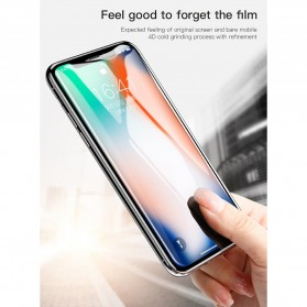 Zilla 4D Tempered Glass Curved Edge 9H 0.3mm for iPhone XS Max / iPhone 11 Pro Max - Black - 7