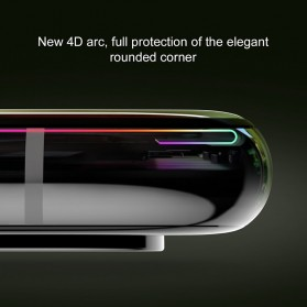 Zilla 4D Tempered Glass Curved Edge 9H 0.3mm for iPhone XR - Black - 5