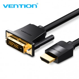 Vention Kabel Video Adapter HDMI to DVI 24+1 1080P 1M - ABFBF - Black