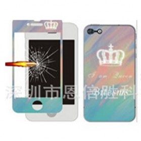 Tempered Glass and Painted Phone Case for iPhone 6 - 001