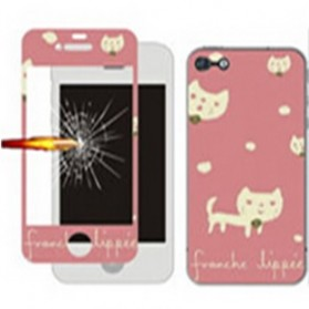 Tempered Glass and Painted Phone Case for iPhone 6 012