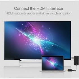 FSU Adapter Converter DisplayPort to HDMI VGA DVI with Audio - DP1IN4 - Black - 4