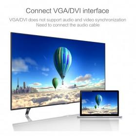 FSU Adapter Converter DisplayPort to HDMI VGA DVI with Audio - DP1IN4 - Black - 5