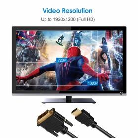 FSU Kabel Video Adapter HDMI to DVI 24+1 Pin 1080P 1.8M - BL-DH - Black - 4