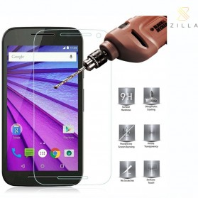 Zilla 2.5D Tempered Glass Curved Edge 9H 0.26mm for Motorola Moto G 3rd