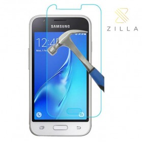 Zilla 2.5D Tempered Glass Curved Edge 9H 0.26mm for Samsung Galaxy J1 Mini 2016/J1 Nxt - Transparent