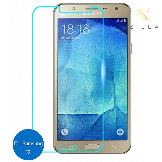 Zilla 25D Tempered Glass Curved Edge 9H 026mm For Samsung Galaxy J2 Prime