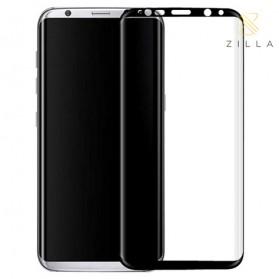 Zilla 3D Premium Tempered Glass Curved Edge 9H 0.26mm for Samsung Galaxy S8 - Black