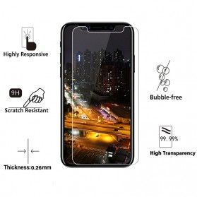 Zilla 2.5D Tempered Glass Curved Edge 9H 0.26mm for iPhone X/XS - 2