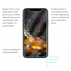 Zilla 2.5D Tempered Glass Curved Edge 9H 0.26mm for iPhone X/XS - 3