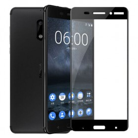 Zilla 2.5D Tempered Glass Curved Edge 9H 0.26mm for Nokia 6 - Black - 2
