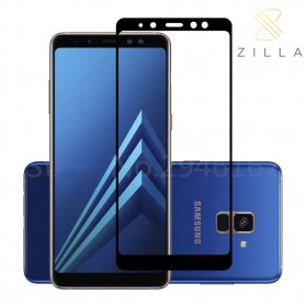 Zilla 2.5D Tempered Glass Full Cover 9H 0.26mm for Samsung Galaxy A8 Plus 2018 - Black
