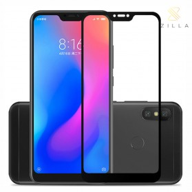 Zilla 2.5D Full Cover Tempered Glass Curved Edge 9H 0.26mm for Xiaomi Redmi 6 Pro - Black
