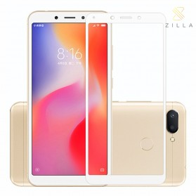 Zilla 2.5D Full Cover Tempered Glass Curved Edge 9H 0.26mm for Xiaomi Redmi 6 Pro - White